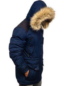 Tmavě modrá pánská zimní bunda Bolf 5948