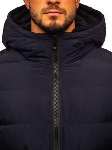 Tmavě modrá pánská zimní bunda Bolf 5974