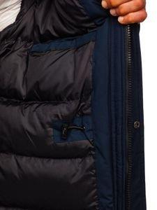 Tmavě modrá pánská zimní parka Bolf 1093