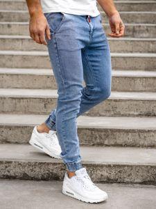 Tmavě modré pánské džínové jogger kahoty Bolf KA1628