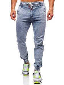 Tmavě modré pánské džínové jogger kahoty Bolf KA1766