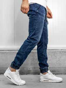 Tmavě modré pánské džínové jogger kalhoty Bolf KA687-1