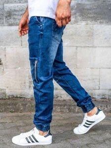 Tmavě modré pánské džínové jogger kalhoty Bolf KA752