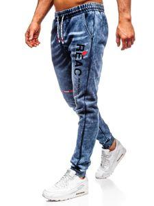 Tmavě modré pánské džínové jogger kalhoty Bolf KK1060