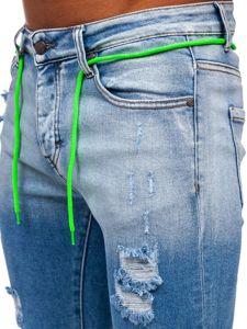 Tmavě modré pánské džíny skinny fit Bolf KA1728
