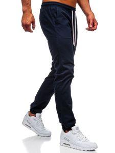 Tmavě modré pánské jogger kalhoty Bolf 1145