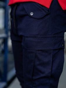 Tmavě modré pánské jogger kapsáče Bolf 1005