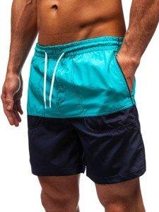Tmavě modré pánské koupací šortky Bolf 310