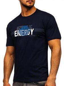 Tmavě modré pánské tričko s potiskem Bolf 14333