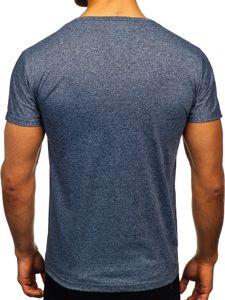 Tmavě modré pánské tričko s potiskem Bolf KS2050