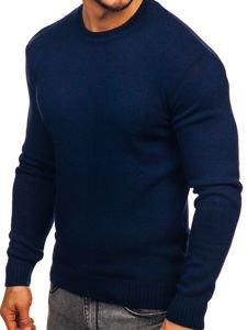 Tmavě modrý pánský svetr Bolf 0001