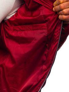 Vínová pánská prošívaná sportovní zimní bunda Bolf 50A215