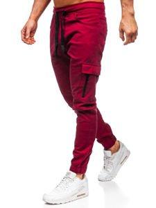Vínové pánské jogger kalhoty Bolf 11104