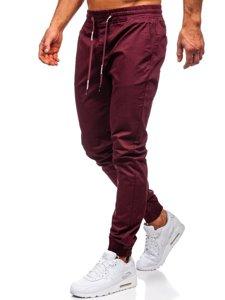 Vínové pánské jogger kalhoty Bolf KA951