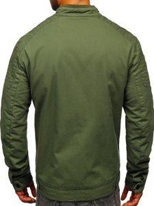 Zelená pánská elegantní přechodová bunda Bolf 1816