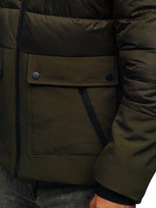 Zelená pánská zimní bunda Bolf B1280