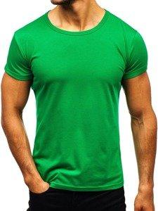Zelené pánské tričko bez potisku Bolf AK999A