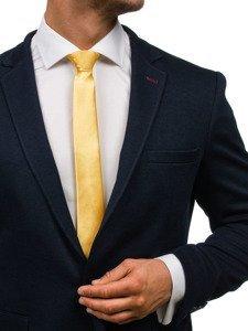 Žlutá pánská elegantní kravata Bolf K001
