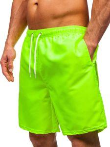 Žluto-neonové pánské plavecké šortky Bolf ST003