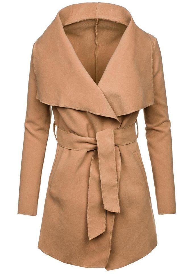 Béžový dámský kabát Bolf 1726 30a3b9372d