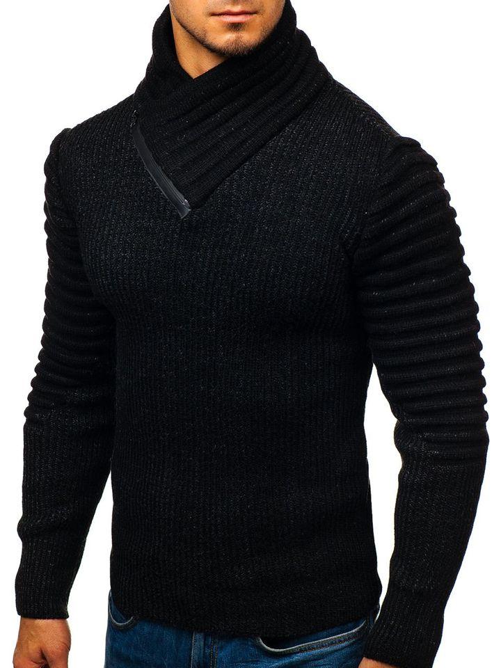 Černý pánský svetr Bolf 20002 ee76e74d69