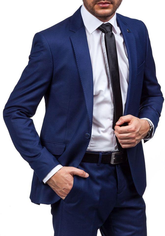 e693d6b80f1 Pánský tmavě modrý oblek Bolf 5005-2