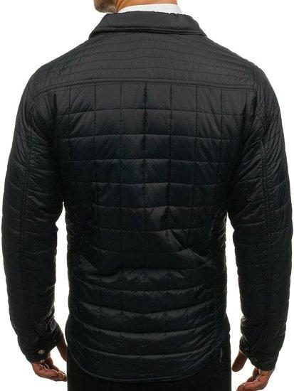 Černá pánská elegantní přechodová bunda Bolf 7668