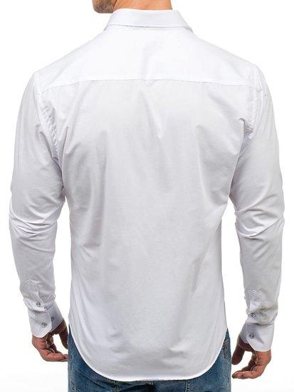 Pánská bílá elegantní košile s dlouhým rukávem Bolf 6928