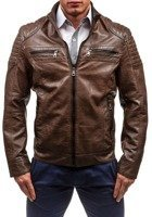 Brown Men's Leather Jacket Bolf 1774A